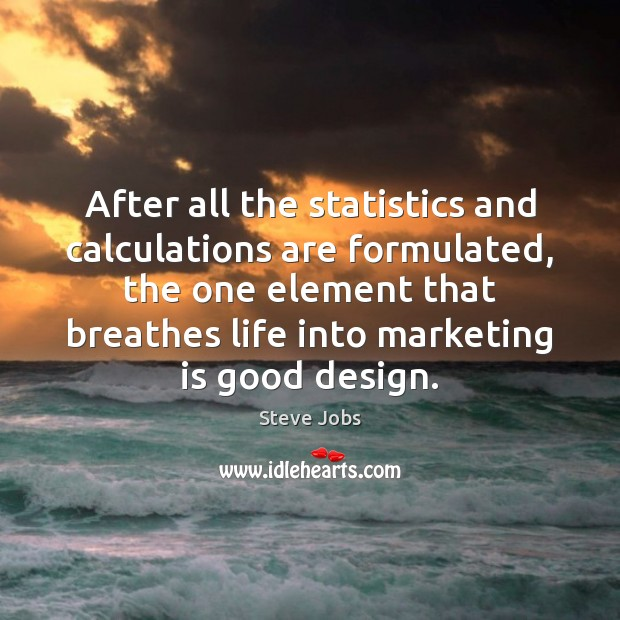 After all the statistics and calculations are formulated, the one element that Marketing Quotes Image