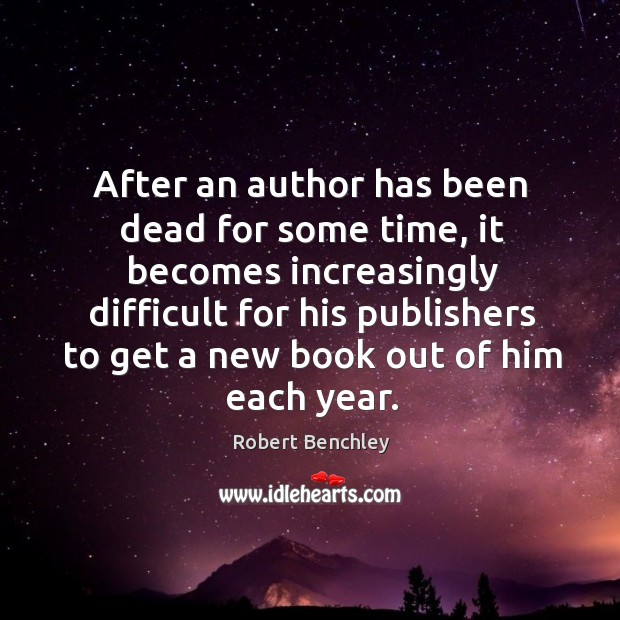 Image, After an author has been dead for some time, it becomes increasingly difficult