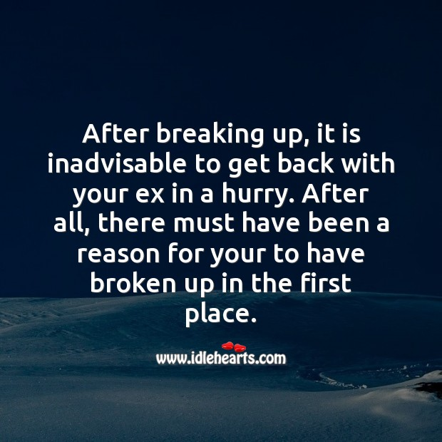 Image, After breaking up
