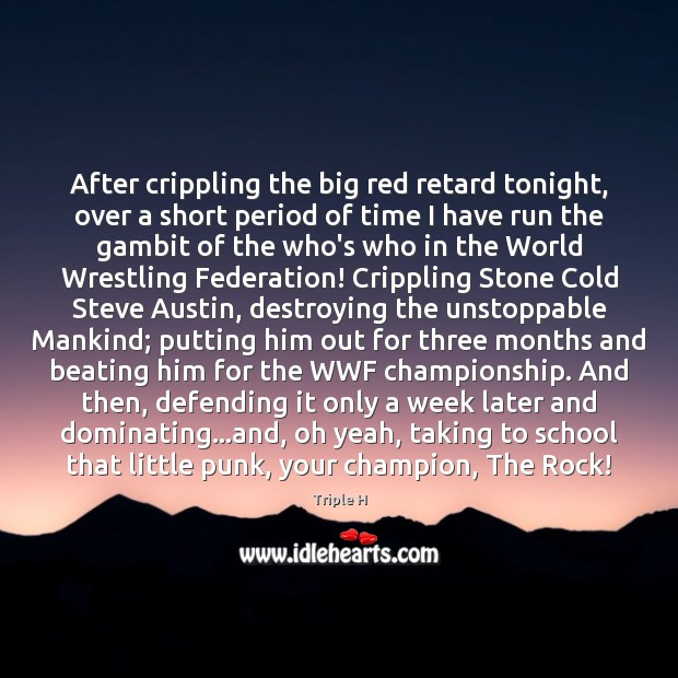 After crippling the big red retard tonight, over a short period of Unstoppable Quotes Image