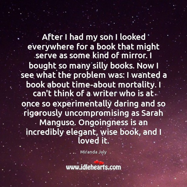 After I had my son I looked everywhere for a book that Image