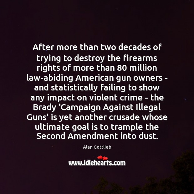 Image, After more than two decades of trying to destroy the firearms rights