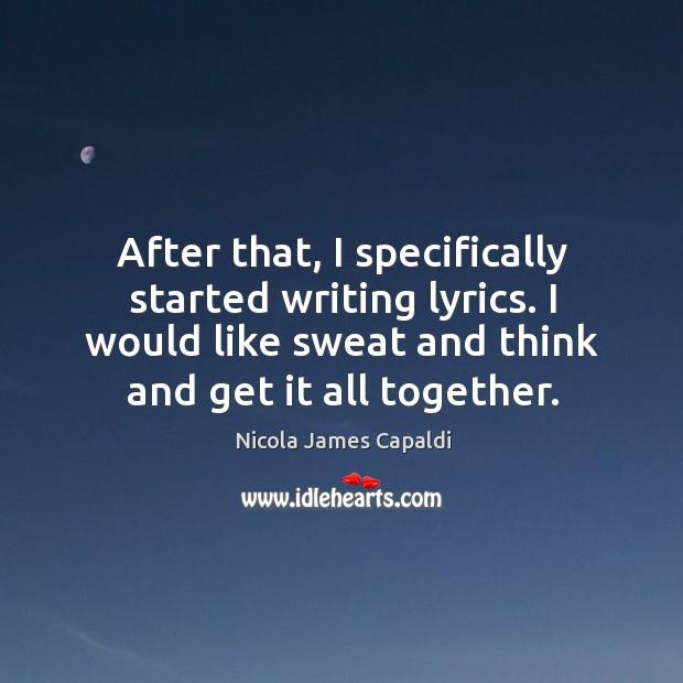 Sweat nobody lyrics