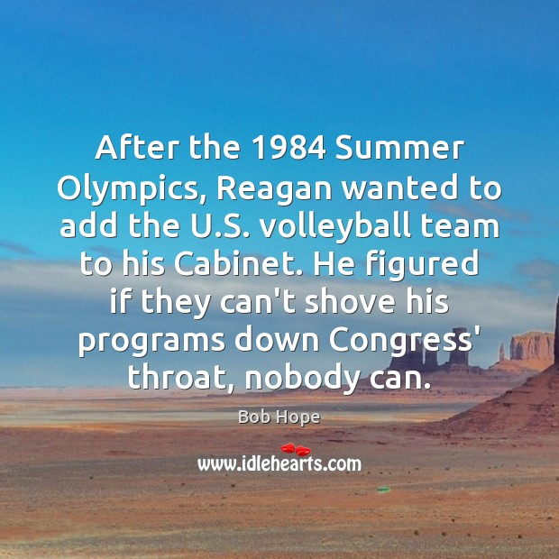 Image, After the 1984 Summer Olympics, Reagan wanted to add the U.S. volleyball