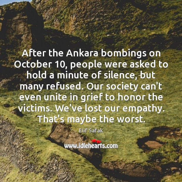 Image, After the Ankara bombings on October 10, people were asked to hold a