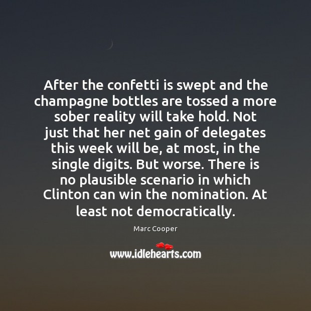 After the confetti is swept and the champagne bottles are tossed a Image