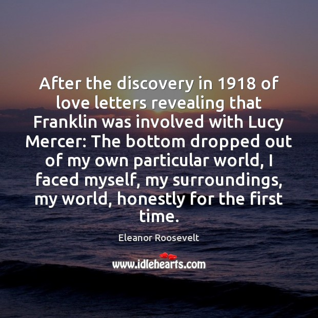 Image, After the discovery in 1918 of love letters revealing that Franklin was involved