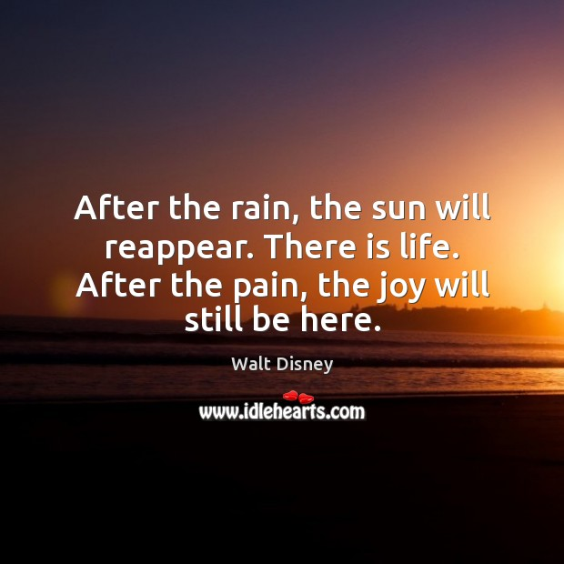 Image, After the rain, the sun will reappear. There is life. After the
