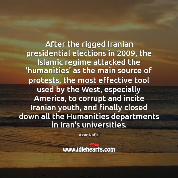 After the rigged Iranian presidential elections in 2009, the Islamic regime attacked the Image