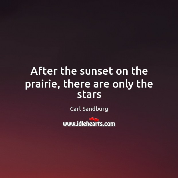 After the sunset on the prairie, there are only the stars Image