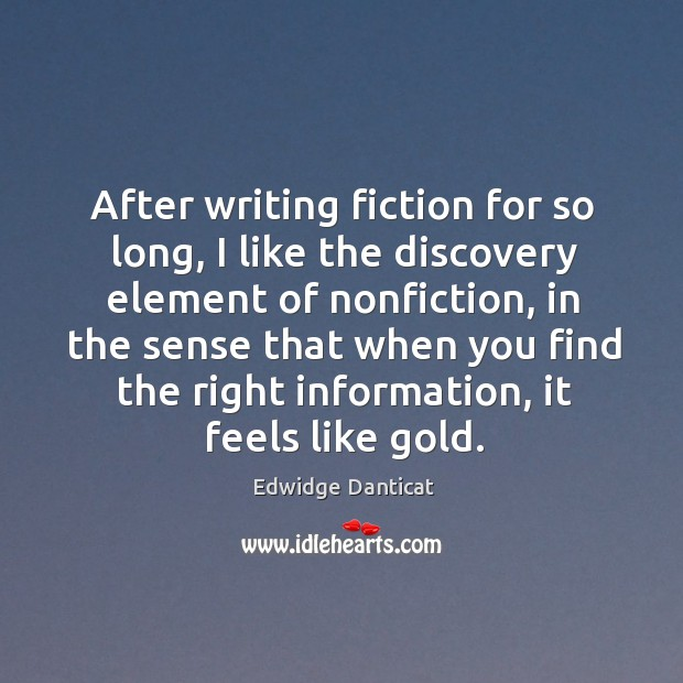 After writing fiction for so long, I like the discovery element of Image