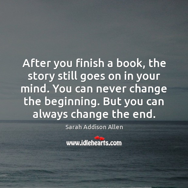 After you finish a book, the story still goes on in your Image