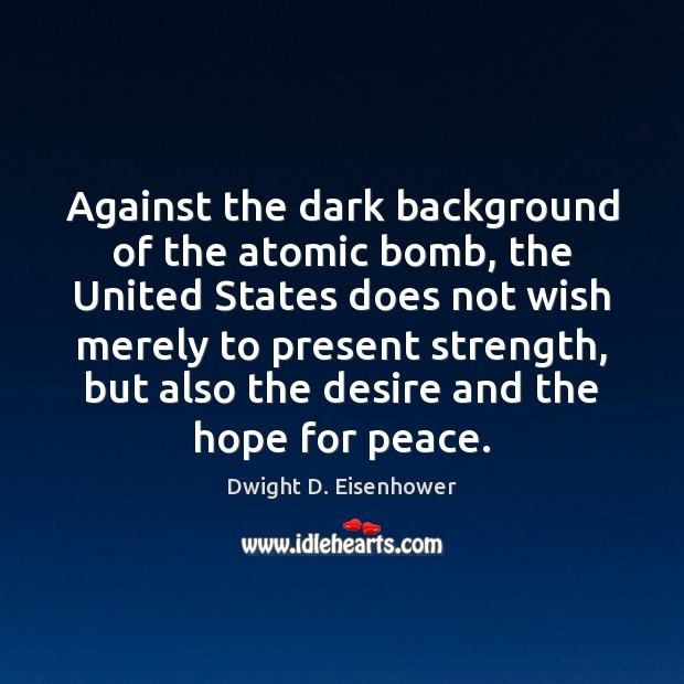 Against the dark background of the atomic bomb, the United States does Image