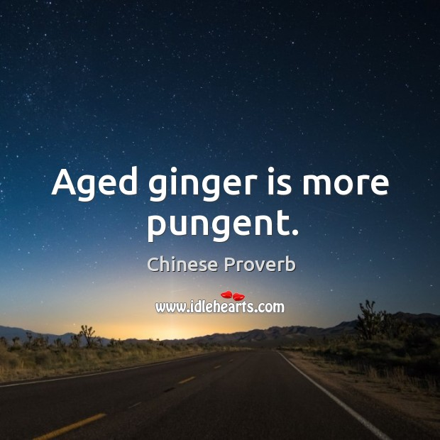 Image, Aged ginger is more pungent.