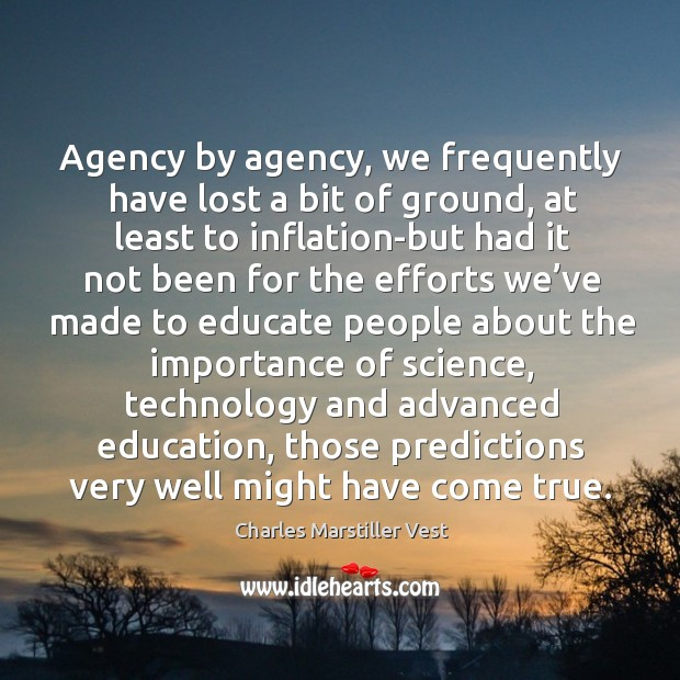 Image, Agency by agency, we frequently have lost a bit of ground, at least to inflation-but had