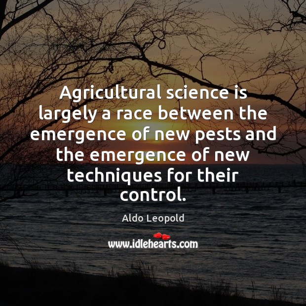 Agricultural science is largely a race between the emergence of new pests Image