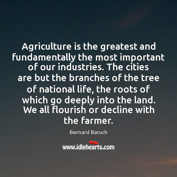 Image, Agriculture is the greatest and fundamentally the most important of our industries.