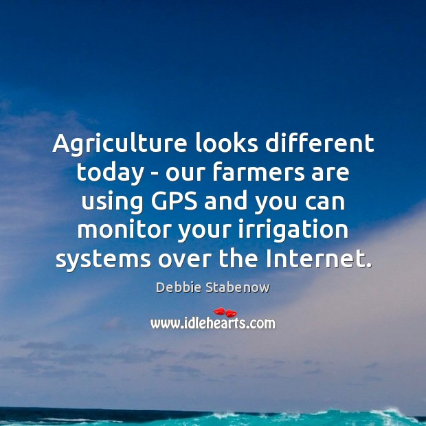 Agriculture looks different today – our farmers are using GPS and you Image