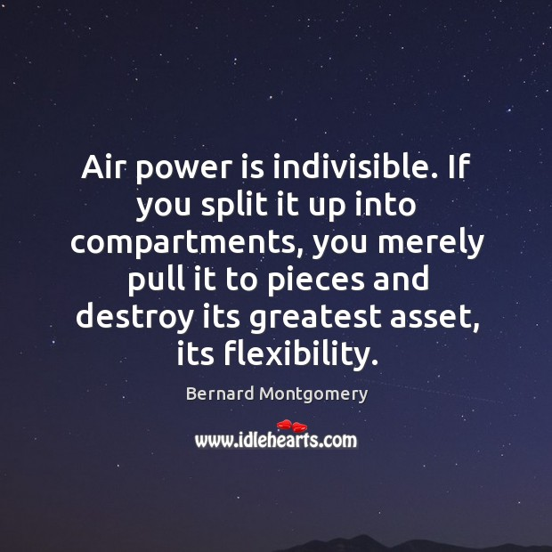 Image, Air power is indivisible. If you split it up into compartments, you merely pull it to pieces and
