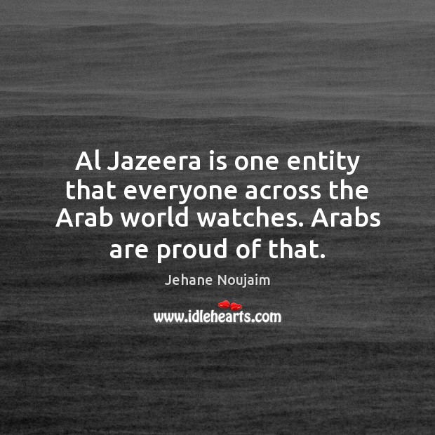 Image, Al Jazeera is one entity that everyone across the Arab world watches.