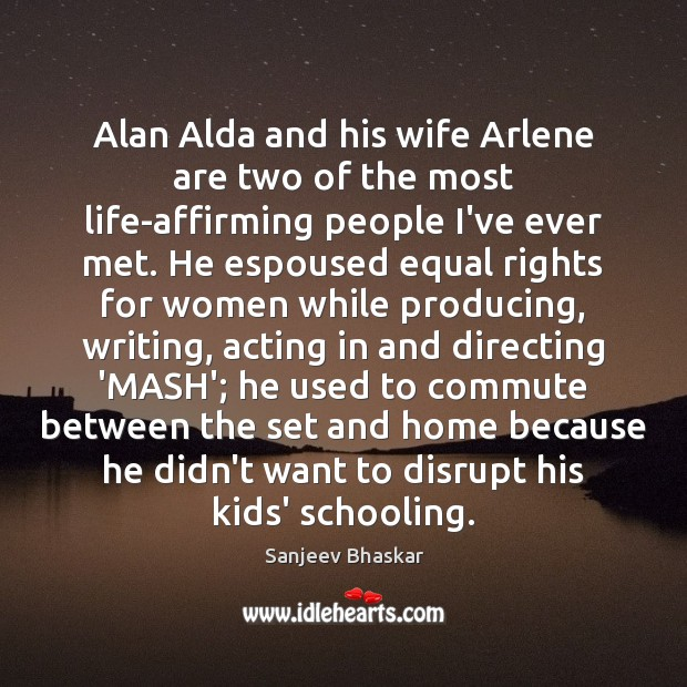 Image, Alan Alda and his wife Arlene are two of the most life-affirming