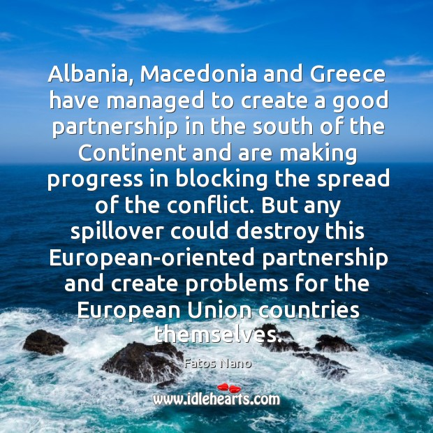 Image, Albania, macedonia and greece have managed to create a good partnership