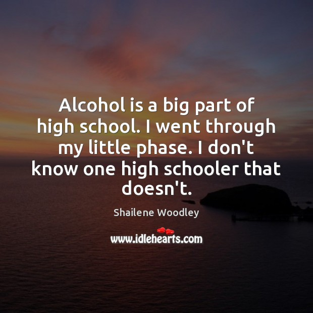 Alcohol is a big part of high school. I went through my Alcohol Quotes Image
