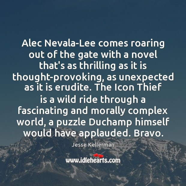 Image, Alec Nevala-Lee comes roaring out of the gate with a novel that's