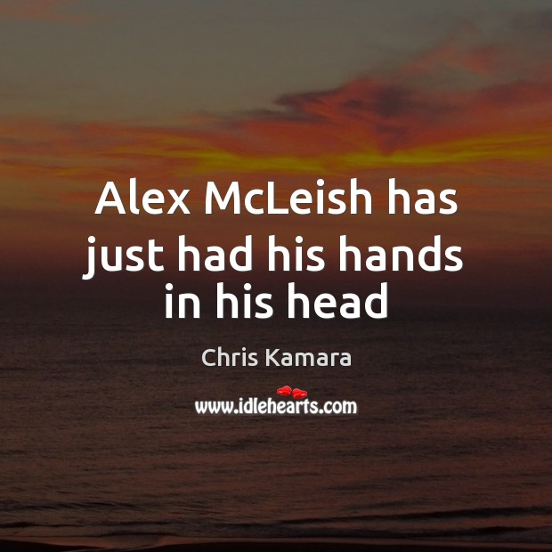 Alex McLeish has just had his hands in his head Image