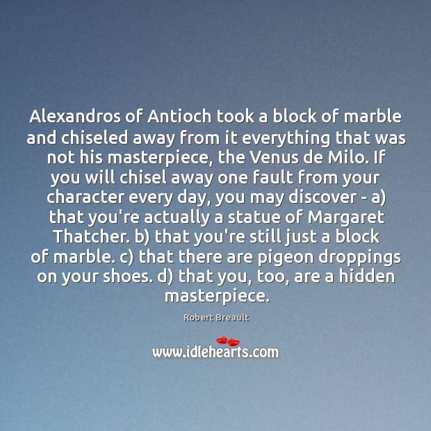 Image, Alexandros of Antioch took a block of marble and chiseled away from
