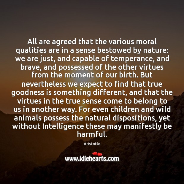 Image, All are agreed that the various moral qualities are in a sense