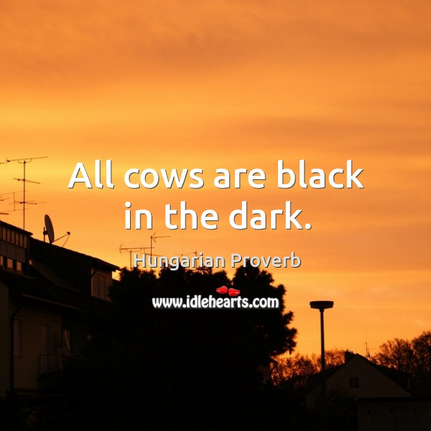 Image, All cows are black in the dark.