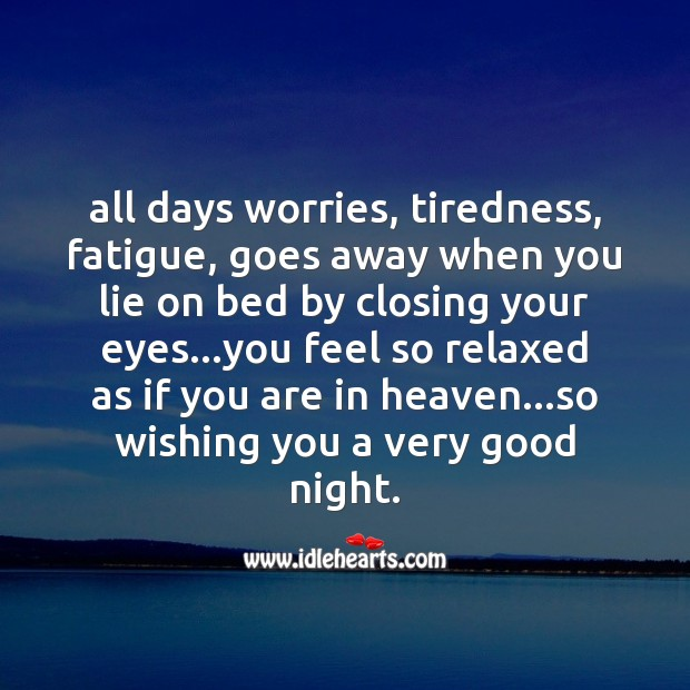 All days worries Good Night Messages Image