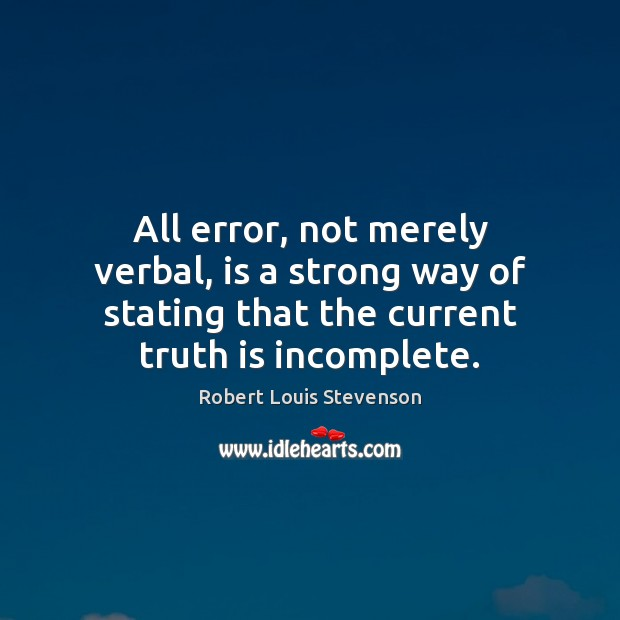 All error, not merely verbal, is a strong way of stating that Image