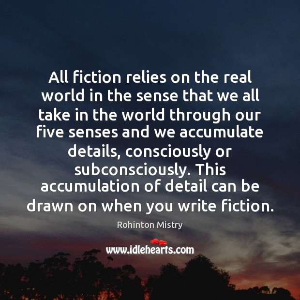 All fiction relies on the real world in the sense that we Image