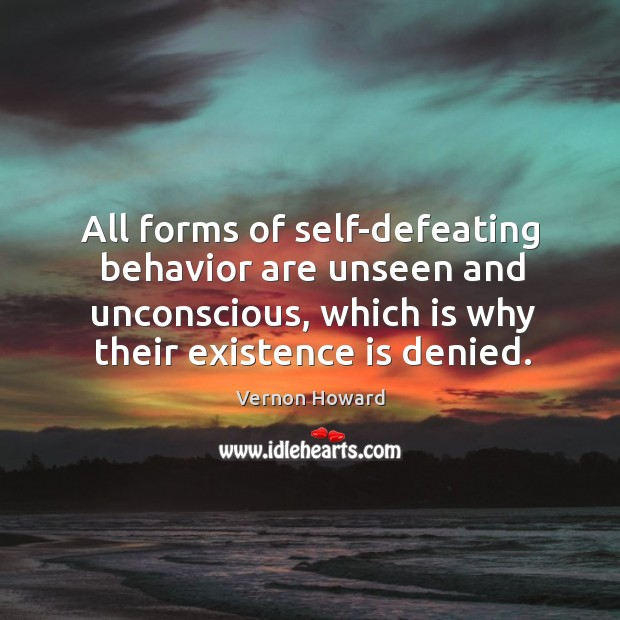 self defeating behaviour Have more of self-defeating behavior than their peers of very good level of  key  words: self-defeating behavior, self-esteem, college students, years in college,.