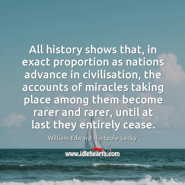 All history shows that, in exact proportion as nations advance in civilisation, Image