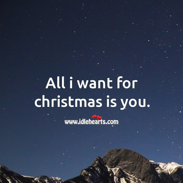 All I want for christmas is you. Image