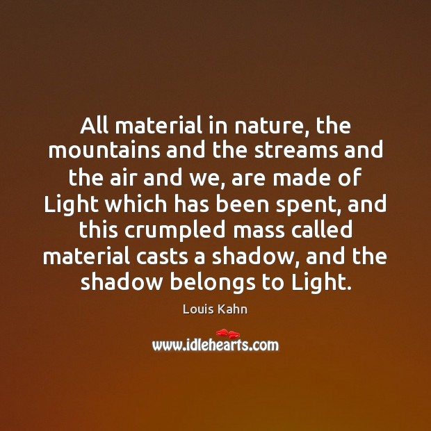 Image, All material in nature, the mountains and the streams and the air