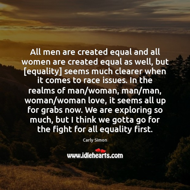 All men are created equal and all women are created equal as Image