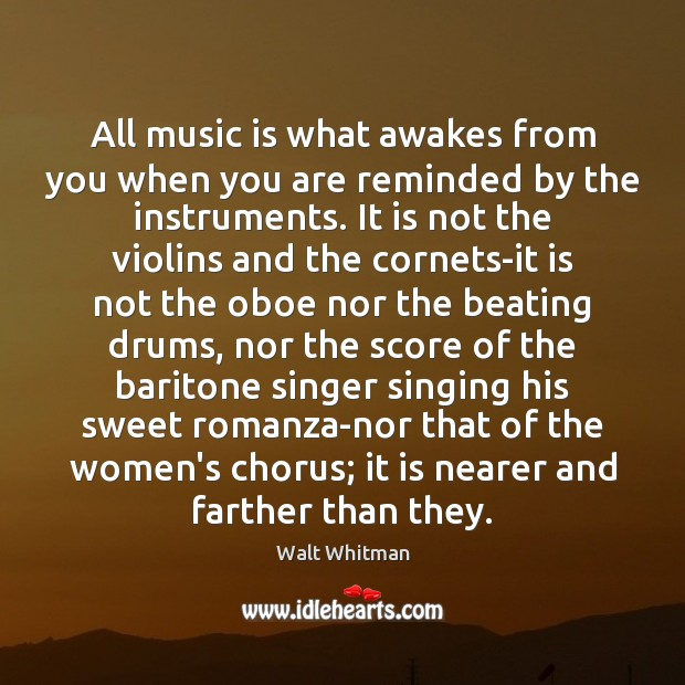 Image, All music is what awakes from you when you are reminded by