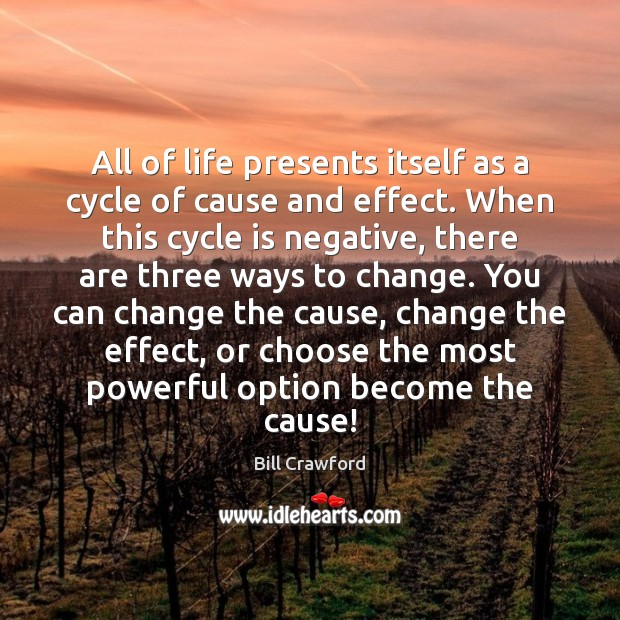 All of life presents itself as a cycle of cause and effect. Image