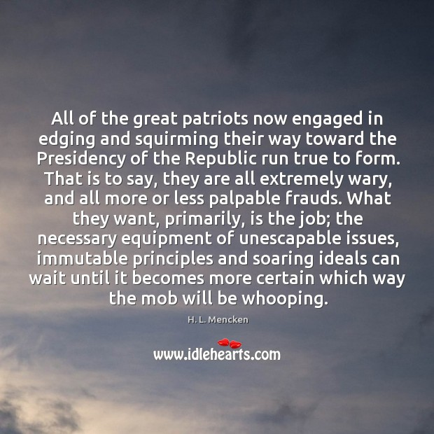 Image, All of the great patriots now engaged in edging and squirming their