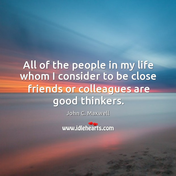 All of the people in my life whom I consider to be Image
