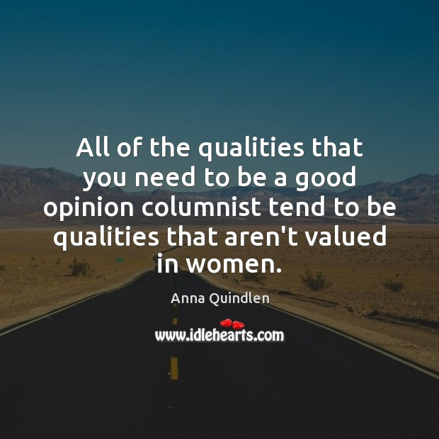 All of the qualities that you need to be a good opinion Image