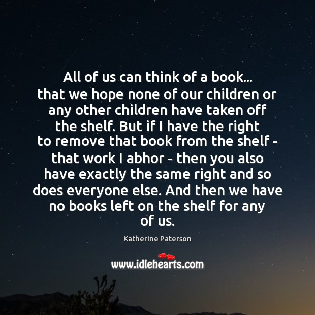 Image, All of us can think of a book… that we hope none