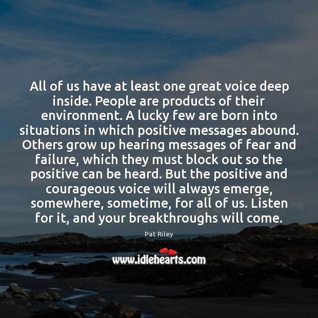 All of us have at least one great voice deep inside. People Image