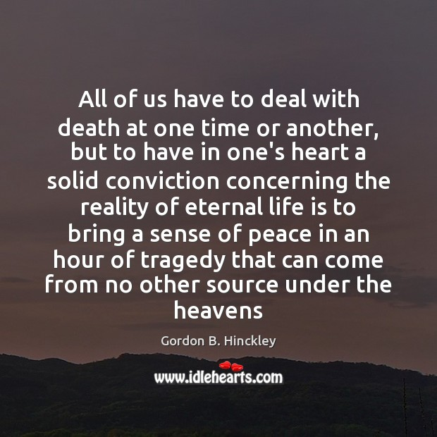 All of us have to deal with death at one time or Image