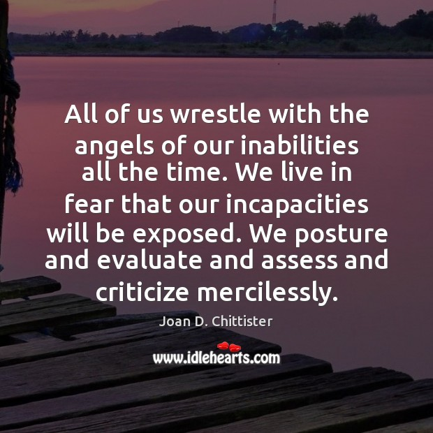Image, All of us wrestle with the angels of our inabilities all the