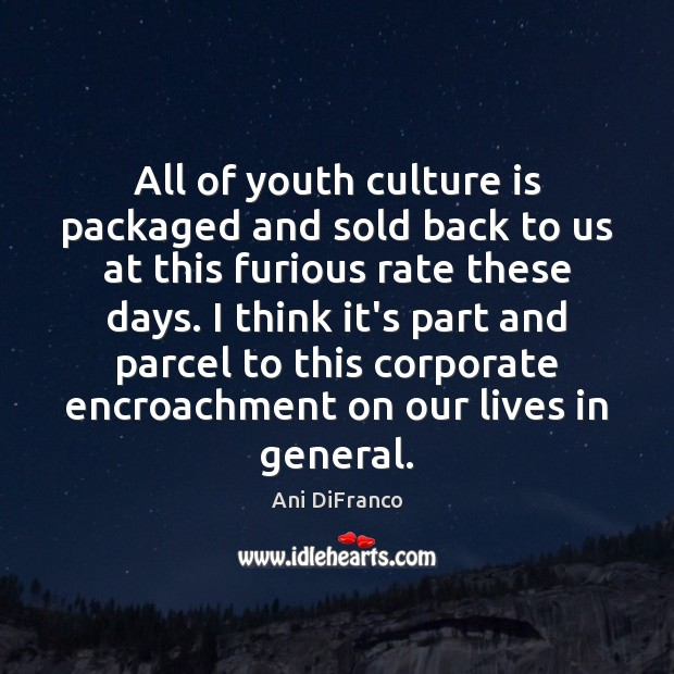Image, All of youth culture is packaged and sold back to us at